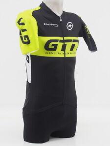 New! Assos Men's Short Sleeve GTN Pro Team Cycling Jersey Size Large Blk/Green
