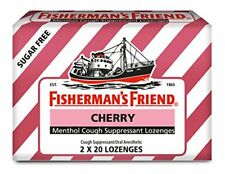 3 Pack Fisherman's Friend Cough Suppressant Lozenges Cherry 40 Count Each