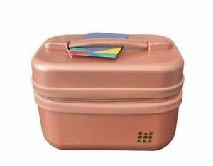 Caboodles Voyager Cosmetic Makeup Carry Train Case, Rose Gold