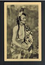 Real Picture Postcard Native American Indian Chippewa Ojibway Man Long John