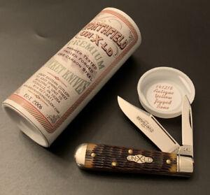 🔥 Great Eastern Cutlery Northfield GEC 141218 Antique Yellow Jigged Bone - RARE