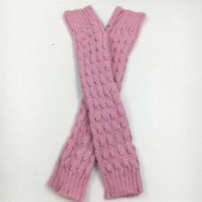 Winter Warm Women Ladies Leg Warmers Cable Knit Knitted Crochet Socks Leggings