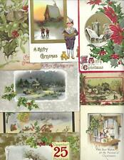 Lot of 16 Beautiful Vintage Christmas Postcards-Nice Mix, Great Value!