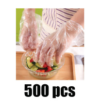 500 PCS Plastic Clear Disposable Poly Gloves Food Cleaning Catering Poly King