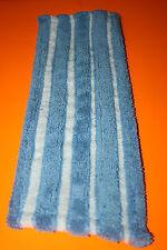 5 SERPILLERES AZURDI FRANGE MICROFIBRE SPECIAL CARRELAGE 46 x 14 cm BLEU BLANC