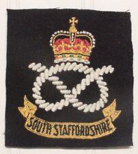 British Army Blazer Badge - South Staffordshire Regiment (emb on felt)