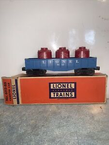 LIONEL O SCALE CANISTER CAR WITH CRAPPY  BOX - 6112-85 GREAT CONDITION LOOK