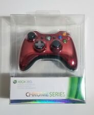 Xbox 360 Rare Limited Edition Chrome Series Red Controller (Microsoft)