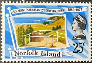 1977 Silver Jubilee of Queen's Coronation MNH Stamps from Norfolk Island