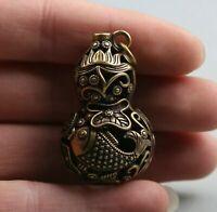 2pcs Handcraft Carved Vietnam Agarwood  Wen Chang Pagoda Statue Handplay Gift A