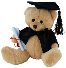 "*BNWT* TEDDY BEAR ""GRADUATION WITH HAT AND SCROLL"" SCHOOL UNIVERSITY TOY 15cm"