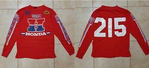 Vintage HONDA O'neal USA Motocross Jersey Long Sleeve Special Edition Worn # 215