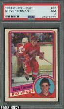 1984 O-Pee-Chee OPC Hockey #67 Steve Yzerman Red Wings RC Rookie HOF PSA 7 NM