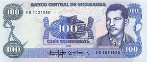 Nicaragua 100 Cordobas 1985 P-154 UNC