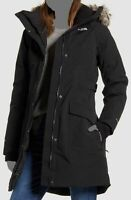 $450 The North Face Women's Black Hooded Parka Waterproof Boroughs Coat Jacket S