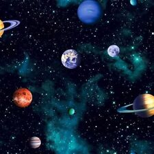 Arthouse Cosmos Space Pattern Planets Earth Childrens Wallpaper - 668100