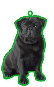 BLACK PUG AIR FRESHENERS X 2 FOR YOUR CAR HOME LONG LASTING FRAGRANCE