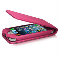 HOT PINK FLIP CREDIT CARD SOFT PU LEATHER CASE COVER APPLE IPHONE 5 5S