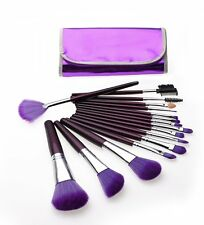 16 Pcs Professional Cosmetic Makeup Brush Brushes Set Kit with Purple Case