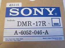 "Sony DMR-17R / A-6052-046-A BVH-2000 1"" VTR Upper Drum - New In Box!"