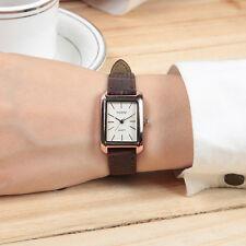 Stainless Steel Women Lady Fashion Square Dial Analog Quartz Wrist Watch Black
