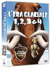 Dvd L'ERA GLACIALE 1-2-3-4 Quadrilogia - (Box 4 Dischi 343 min.) ....NUOVO