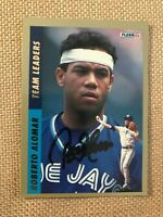 HOF ROBERTO ALOMAR 1993 FLEER TEAM LEADERS SIGNED AUTOGRAPHED CARD COA