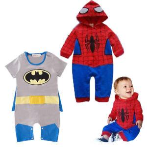 Baby Boy Batman Fancy Dress Costume Bodysuit Outfit with Cape