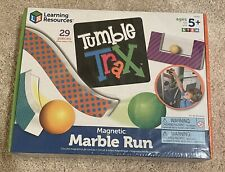 NEW SEALED Learning Resources Tumble Trax Magnetic Marble Run GAME KID FUN STEM
