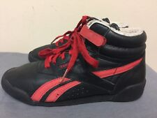 Reebok Boy's faux fur lining tennis lace up Shoes Black/red Size US 2.5