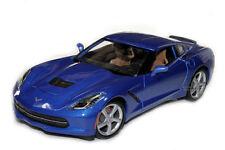 1:18 Maisto Chevrolet 2014 Corvette Stingray C7 bleu clair métallique Spécial
