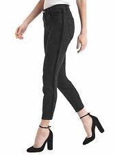 NWT GAP True Skinny Black Denim Stretch Ankle Jeans Velvet Seam Trim  26P 2Pet