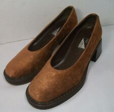 """6B FIALE Dennis Comeau Women Shoes ITALY BROWN Suede Leather 1.75"""" HEEL"""
