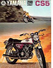 1972 Yamaha 200 Street Twin CS5 factory original sales brochure(Reprint) $9.00