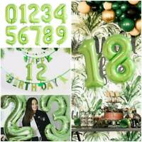 40'' Giant Large Number Foil Balloons GREEN THEME Birthday Wedding Party Decor