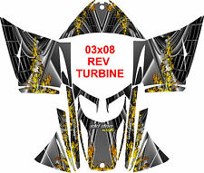 SKIDOO SNOWMOBILE WRAP REV,XP, XR,XS,XM MXZ  99-16  STICKER TURBINE