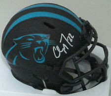 Panthers CHRISTIAN McCAFFREY Signed Riddell ECLIPSE Alter Mini Helmet AUTO - BCA