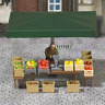 Busch 7706 Stall With Fruit And Vegetables HO Gauge