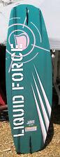 New listing Liquid Force Green Wakeboard 143 Cm Green wake board J Redman Design w/ Fin