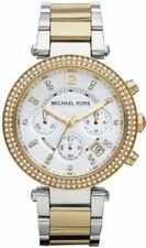 Women's Michael Kors Parker Two Tone Crystals Chronograph Date  Watch MK5626
