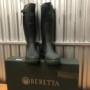 Beretta BENACO SZ.10.5 ZIPPERED WELLINGTON HUNTING BOOTS New in Box!