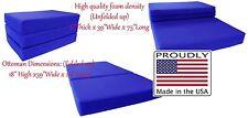 Queen Size 6x60x80 Shikibuton Trifold Foam Bed, Mattress Density 1.8 lb Royal