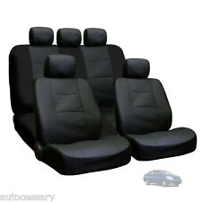 New Porous Black Leatherette Car Seat Covers Set For Nissan