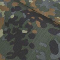 1.5M Width Flecktarn Camo Fabric Army Camouflage Cloth Cotton DIY Military