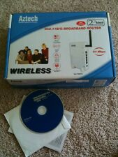 Aztec 54Mbps Wireless 802.11b/g Broadband Router With CD Manual