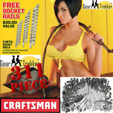 Sears Craftsman 311 pc Mechanics Tool Set #35311 Sockets Ratcheting + FREE BONUS