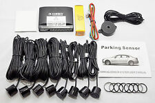 CISBO BRAND FRONT REAR CAR PARKING REVERSING SENSORS 8 SENSORS BUZZER ALARM KIT