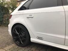 2x Audi Ringe schwarz, Dekorfolie, Aufkleber