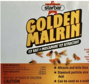 Golden Malrin Fly Bait  ORIGINAL - Methomyl 1 Lb REPACKAGED FREE SHIPPING