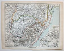 Kap Kolonie, Oranje-Freistaat, Karte des Kriegsschauplatzes - Lithographie